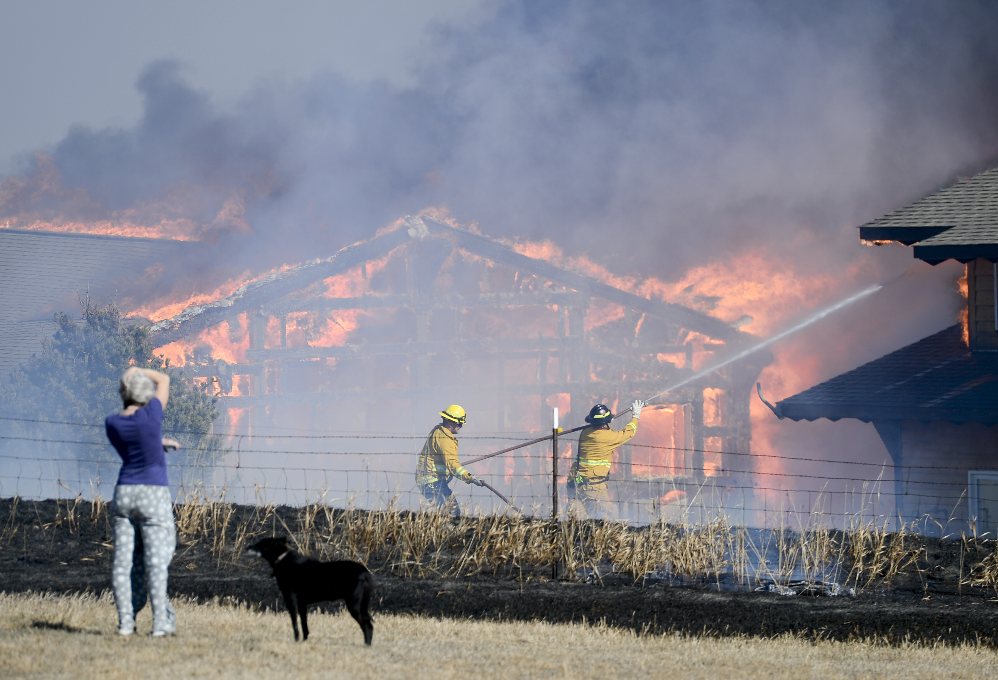 Fire, News, Times-Call, Weld County, WCR 16 1/2, home, grass, structure fire