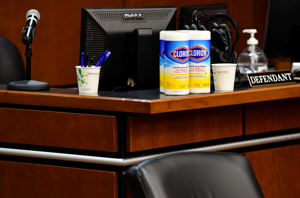 Cleaning Supplies in Courtrooms